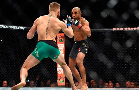 ufc: Jose Aldo en su combate Conor McGregor