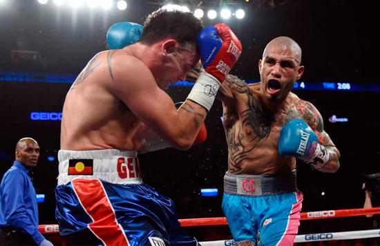 Miguel Cotto durante un combate