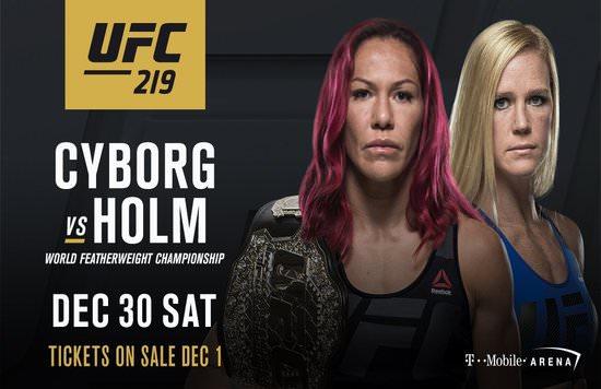 'Cyborg' defenderá el título ante Holm en UFC 219