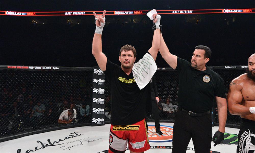 Matt Mitrione ganó su último combate en BELLATOR