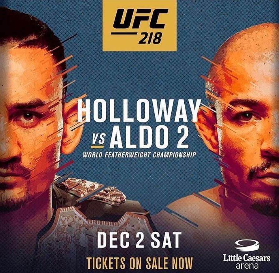 Cartel del combate entre Holloway y Aldo en UFC 218