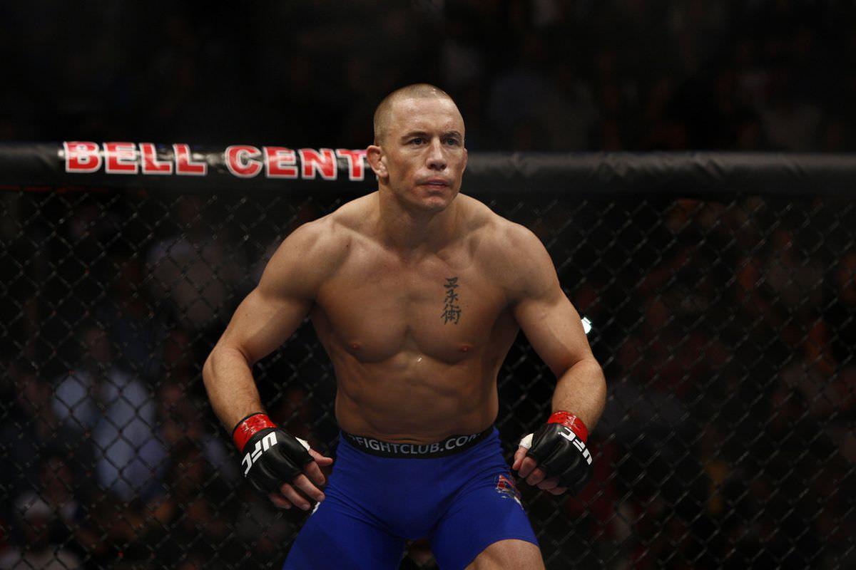 Georges St-Pierre en un combate UFC