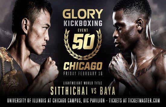 Sitthichai Sitsongpeenong se enfrentará a Christian Baya en GLORY 50