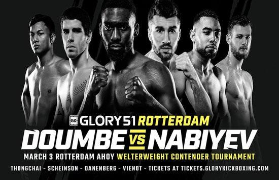 Cédric Doumbé y Alim Nabiyev lucharán en GLORY 51 por una oportunidad al wélter