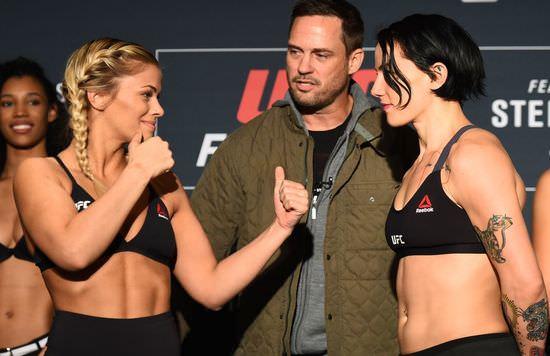 Paige VanZant en el pesaje de UFC Fight Night