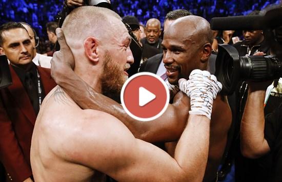Conor McGregor vs Floyd Mayweather se abrazan tras el combate