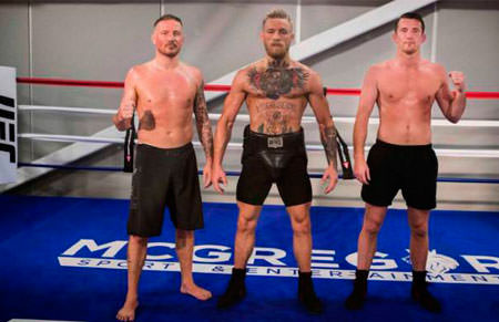 Owen Roddy, con Conor McGregor y Kavanagh