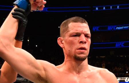 Nate Díaz durante una pelea