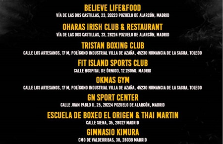 puntos de venta fighers night