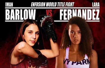 Cartel de enfusión de Lara Fernández vs Iman Barlow