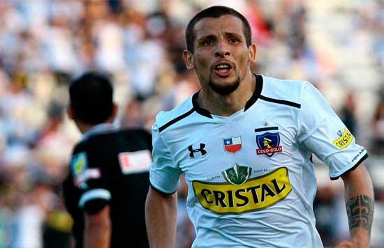 Emiliano Vecchio, en su etapa del Colo Colo chileno