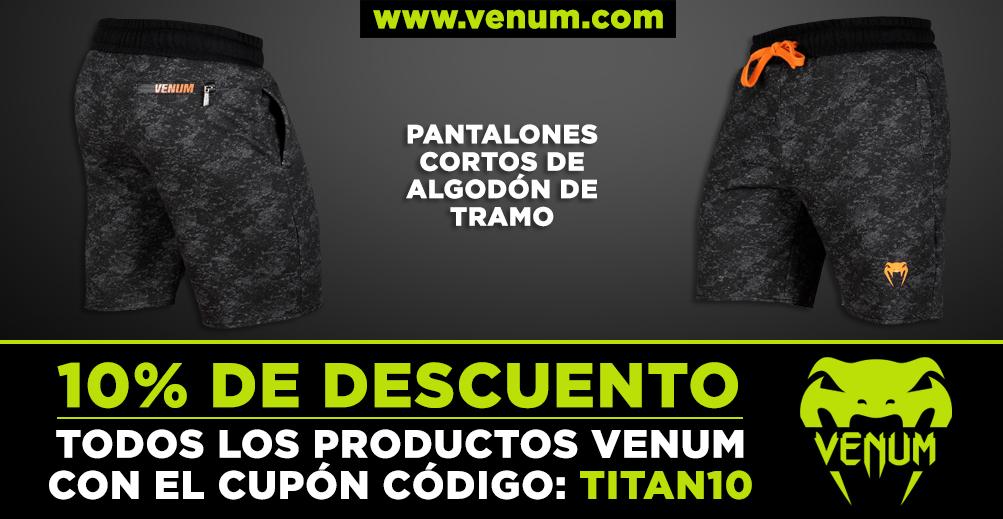 PANTALONES CORTOS DE ALGODÓN DE TRAMO_VENUM