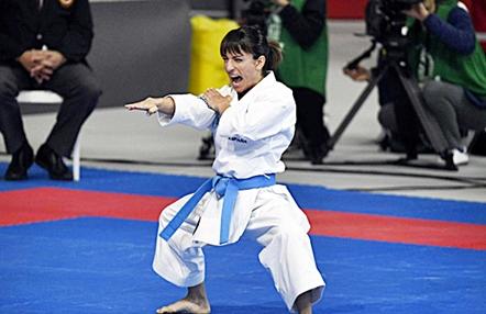 Así entrena Sandra Sánchez en el tatami de su casa para aislarse del coronavirus