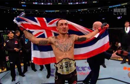 Max Holloway venció a Frankie Edgar en UFC 240