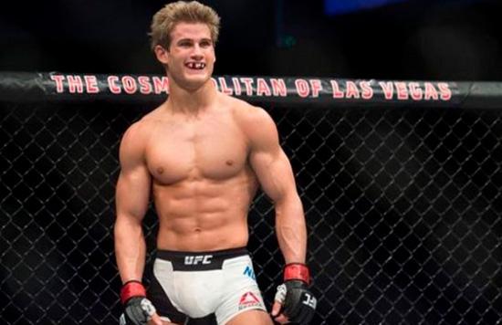 Sage Northcutt durante su etapa en UFC