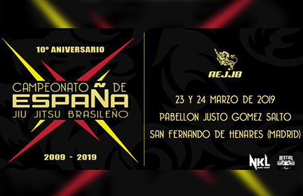 ¡Campeonato de España de Jiu Jitsu brasileño de la AEJJB este fin de semana!
