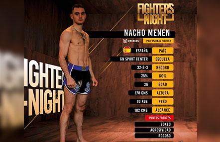 Nacho Menen disputa el título intercontinental ISKA este sábado en FIGHTERS NIGHT II