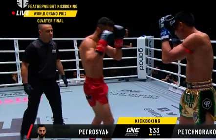 Giorgio Petrosyan venció a Petchmorakot Petchyindee en One Championship