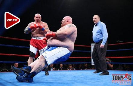 El brutal K.O. de un exluchador de MMA de 186 kilos en su debut en el boxeo