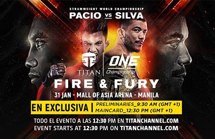'ONE: Fire & Fury' en directo: este viernes a las 12:30 PM en Titan Channel