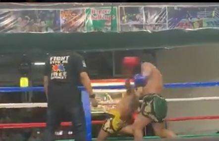 Impresionante KO en una pelea de muay thai en Tailandia