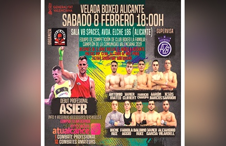 Velada de boxeo el 8 de febrero en VB Spaces Alicante