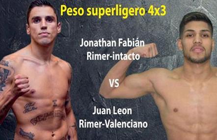 Boxeo: Jonathan Fabián vs. Juan León en el Emporio Barceló