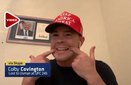 """Colby Covington muestra su mandíbula: """"Usman no me la rompió"""""""