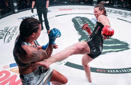 Bellator 241: espectacular choque entre Leslie Smith y Jessy Miele