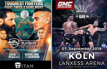 Disponibles GMC 21 Y PFL 9, dos de los grandes eventos de MMA, en Titan Channel