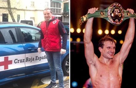 Castillejo, un campeón del mundo de boxeo que reparte alimentos durante el coronavirus