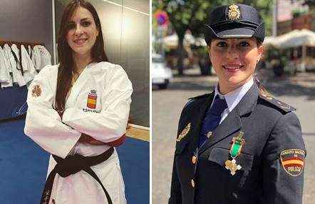 Laura Palacio, campeona de Europa de karate y Policía Nacional