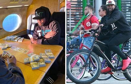 Mayweather se salta el confinamiento: timbas en su jet y paseos en bici