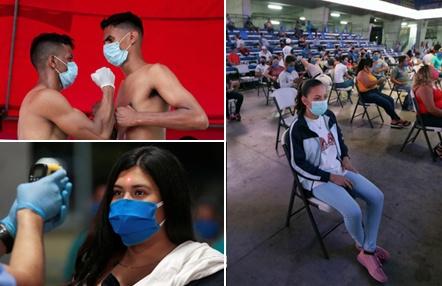 Primera velada en pleno coronavirus: con público, mascarillas, distancia de seguridad y rociados para desinfectar
