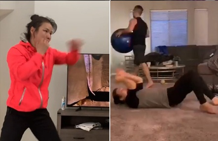 Así entrena en casa durante la cuarentena la campeona del mundo UFC Weili Zhang