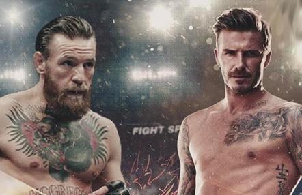 El día que David Beckham desafió a Conor McGregor