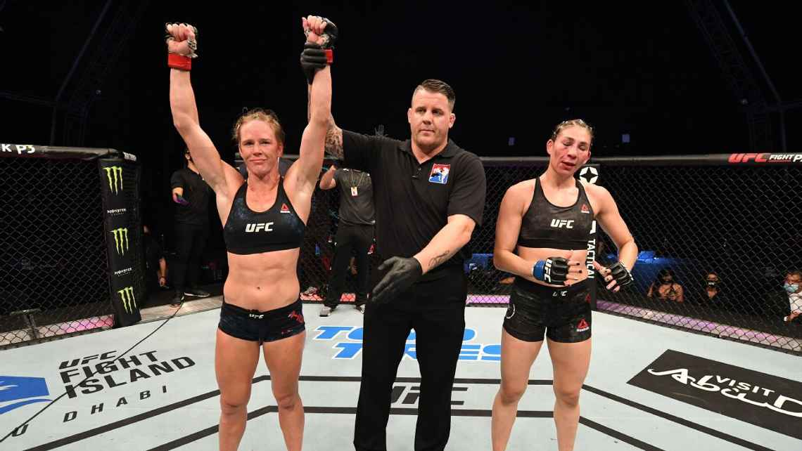 RESULTADOS UFC NIGHT: HOLM vs ALDAMA.